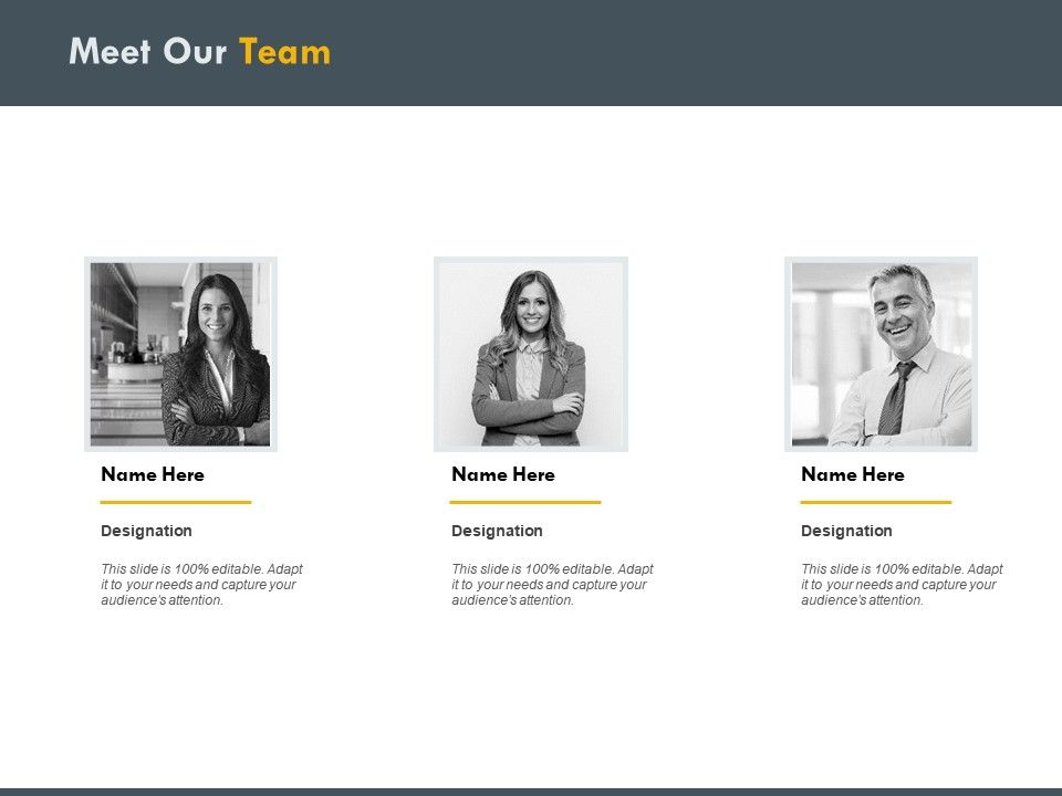 Meet our staff examples