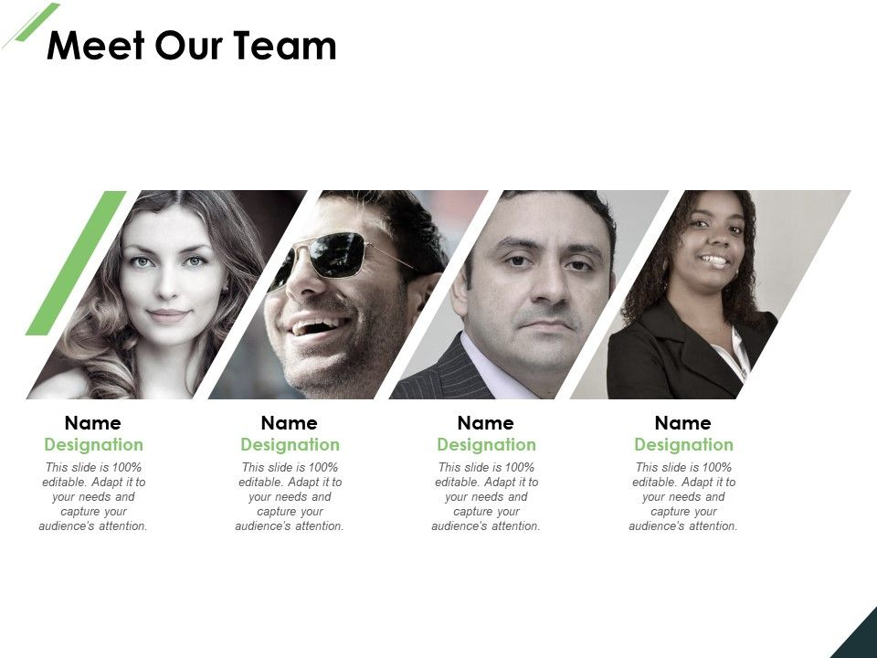Meet Our Team Communication Introduction E401 Ppt Powerpoint