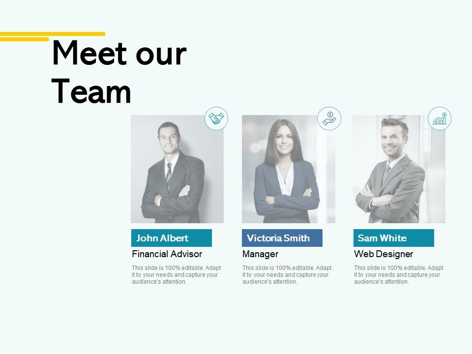 Meet Our Team Introduction A42 Ppt Powerpoint Presentation