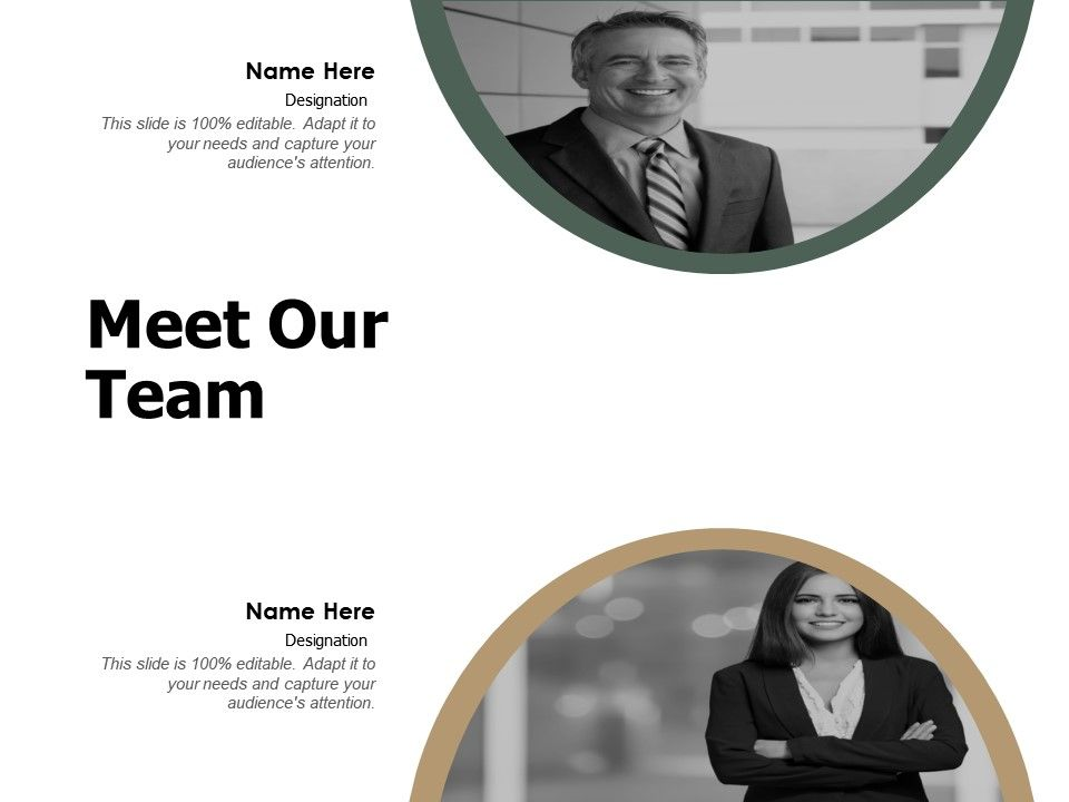 Meet Our Team Introduction F333 Ppt Powerpoint Presentation