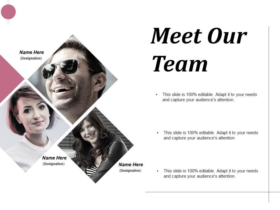 Meet Our Team Introduction Ppt Infographics Design Inspiration