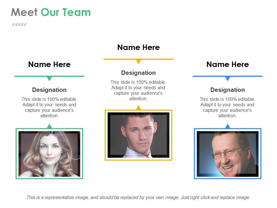 Meet Our Team Powerpoint Slide Templates Download | Template