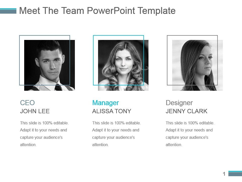 Meet The Team Powerpoint Template | PowerPoint Slide Template ...