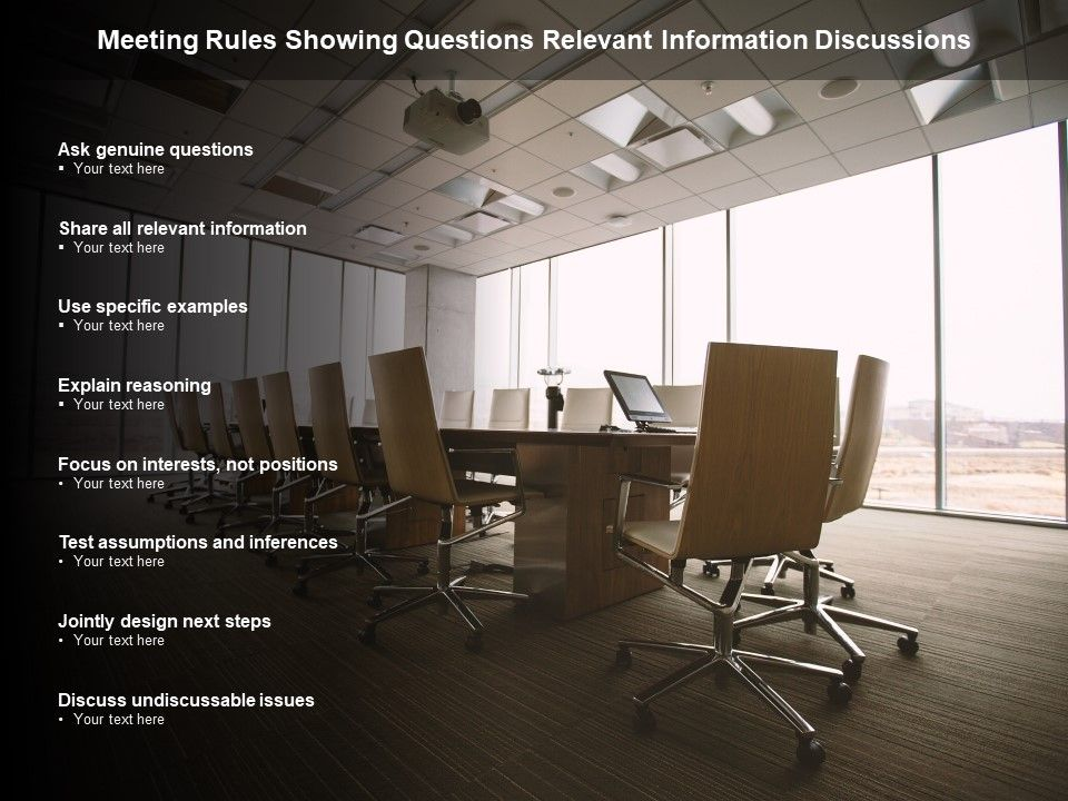 Meeting Rules Showing Questions Relevant Information Discussions
