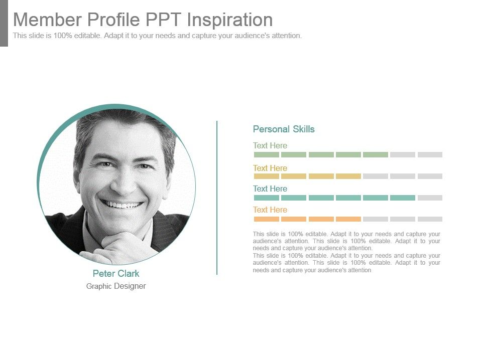 member profile template