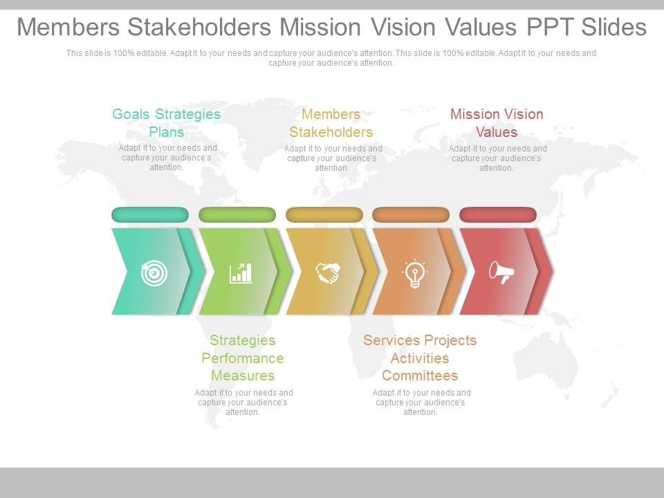 members_stakeholders_mission_vision_values_ppt_slides_Slide01