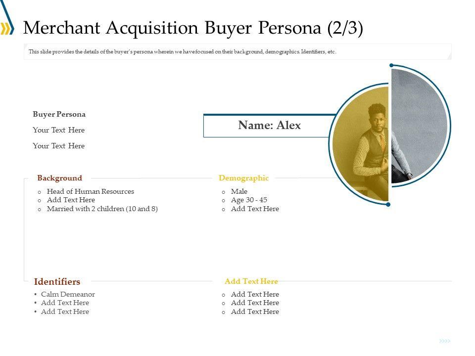 Merchant Acquisition Buyer Persona Demographic Ppt Inspiration