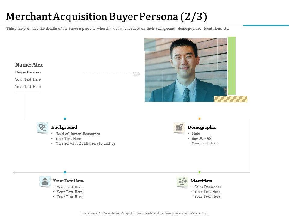 Merchant Acquisition Buyer Persona M2334 Ppt Powerpoint Presentation File Graphics