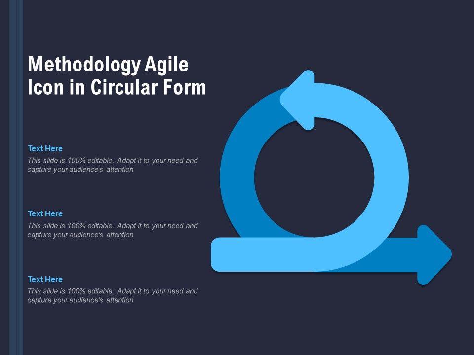 Methodology Agile Icon In Circular Form
