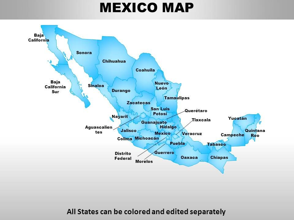 mexico country powerpoint maps powerpoint slide images ppt