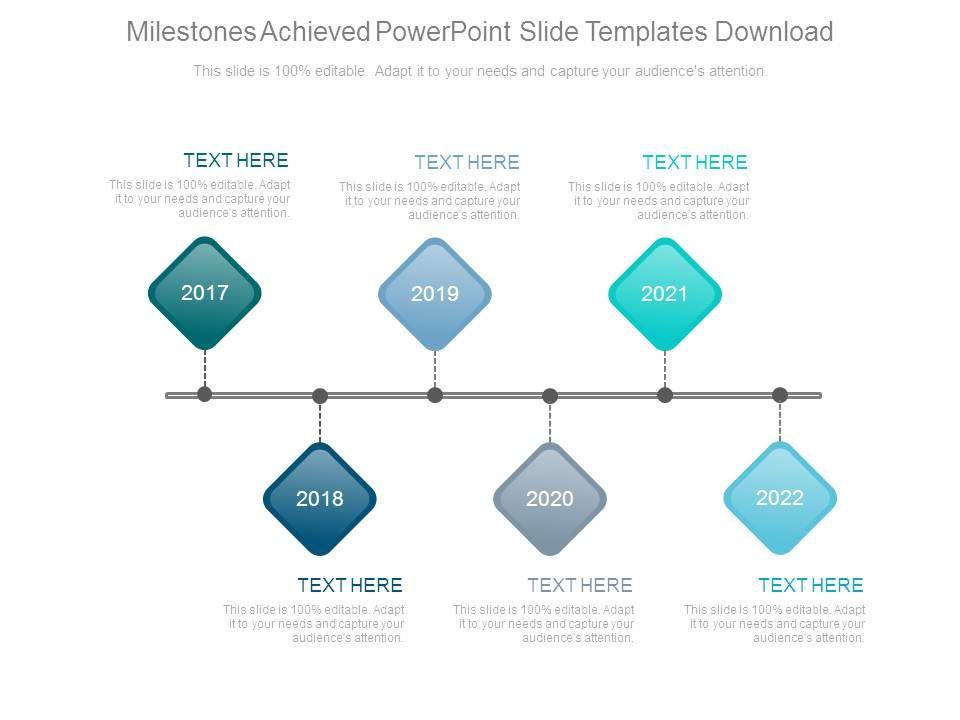 Milestones Achieved Powerpoint Slide Templates Download Powerpoint