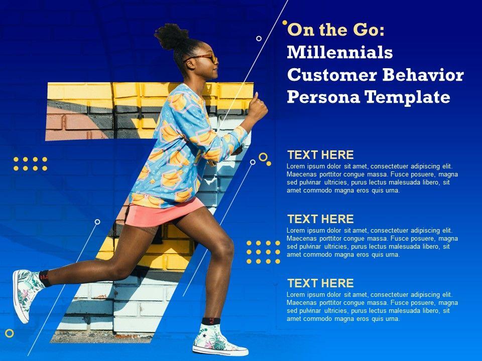 Millennials Customer Behavior Persona Template