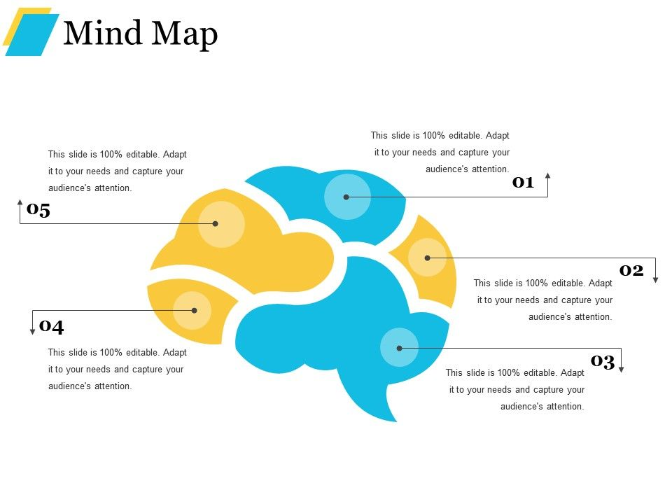 1283584 Style Hierarchy Mind Map 5 Piece Powerpoint Presentation