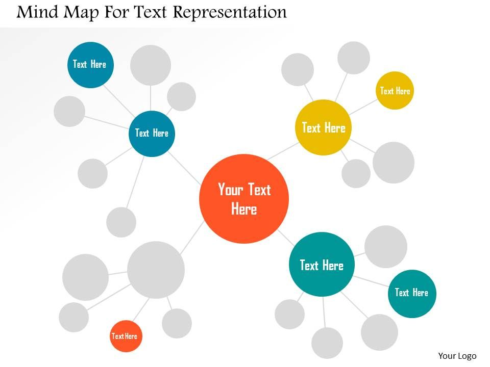 mind_map_for_text_representation_flat_powerpoint_design_Slide01