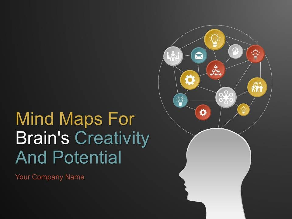 mind maps for brains creativity and potential powerpoint
