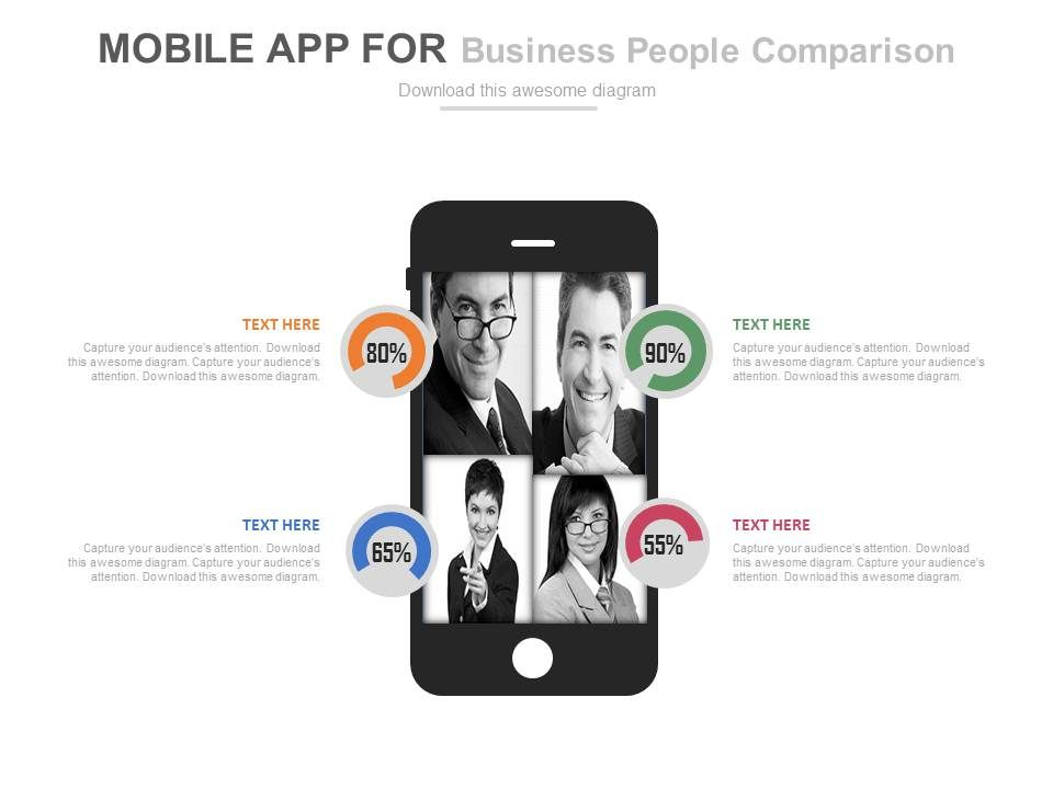 mobile app for business people comparison powerpoint slides