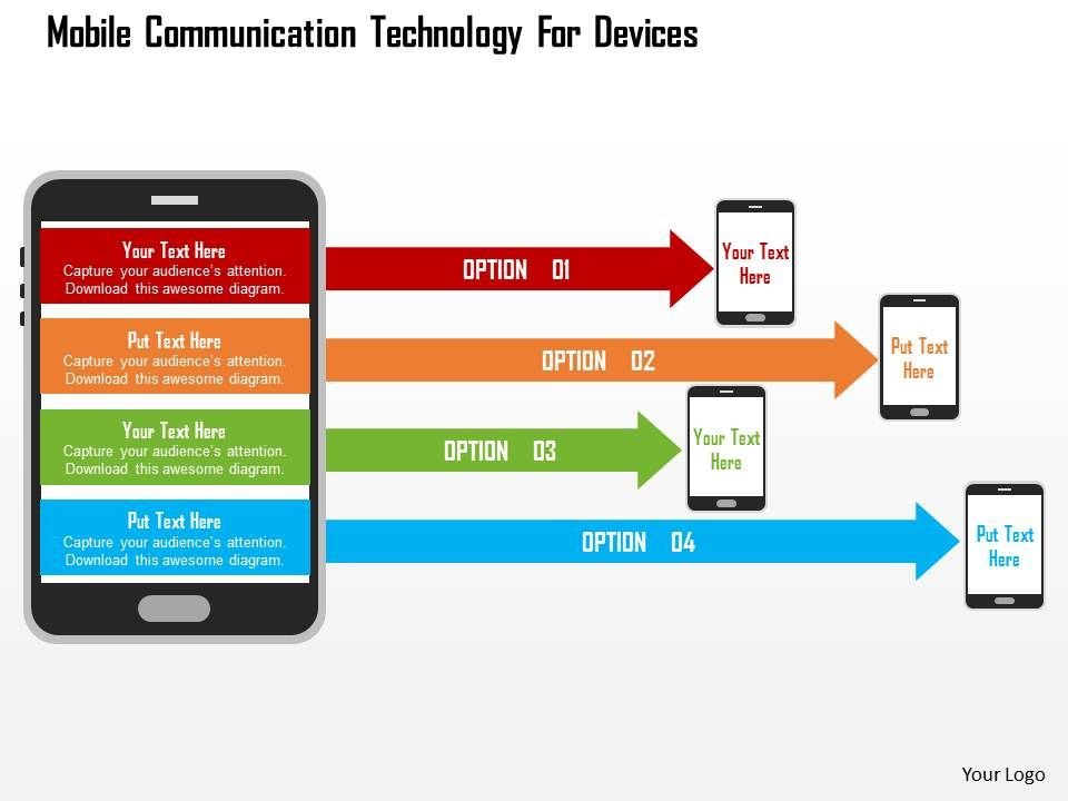 mobile_communication_technology_for_devices_flat_powerpoint_design_Slide01