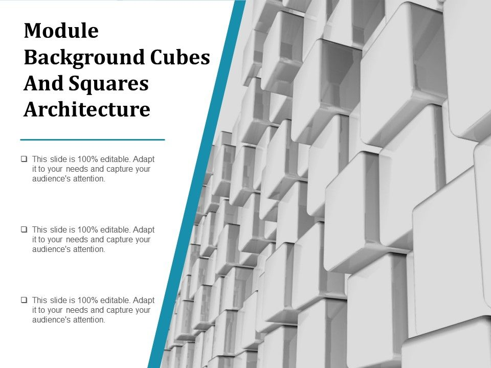 Module Background Cubes And Squares Architecture | PowerPoint