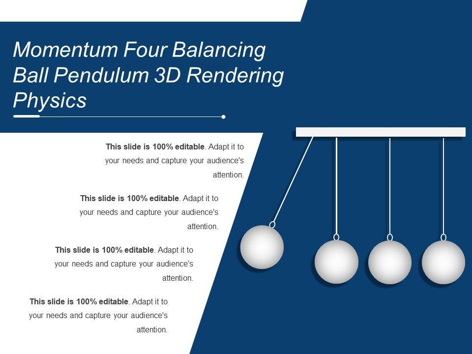 Momentum Four Balancing Ball Pendulum 3d Rendering Physics