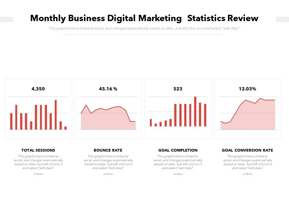 Monthly Business Digital Marketing  Statistics Review