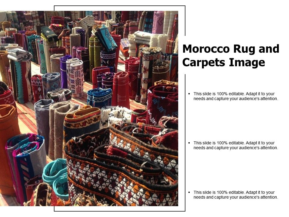 Morocco Rug And Carpets Image Powerpoint Templates Designs
