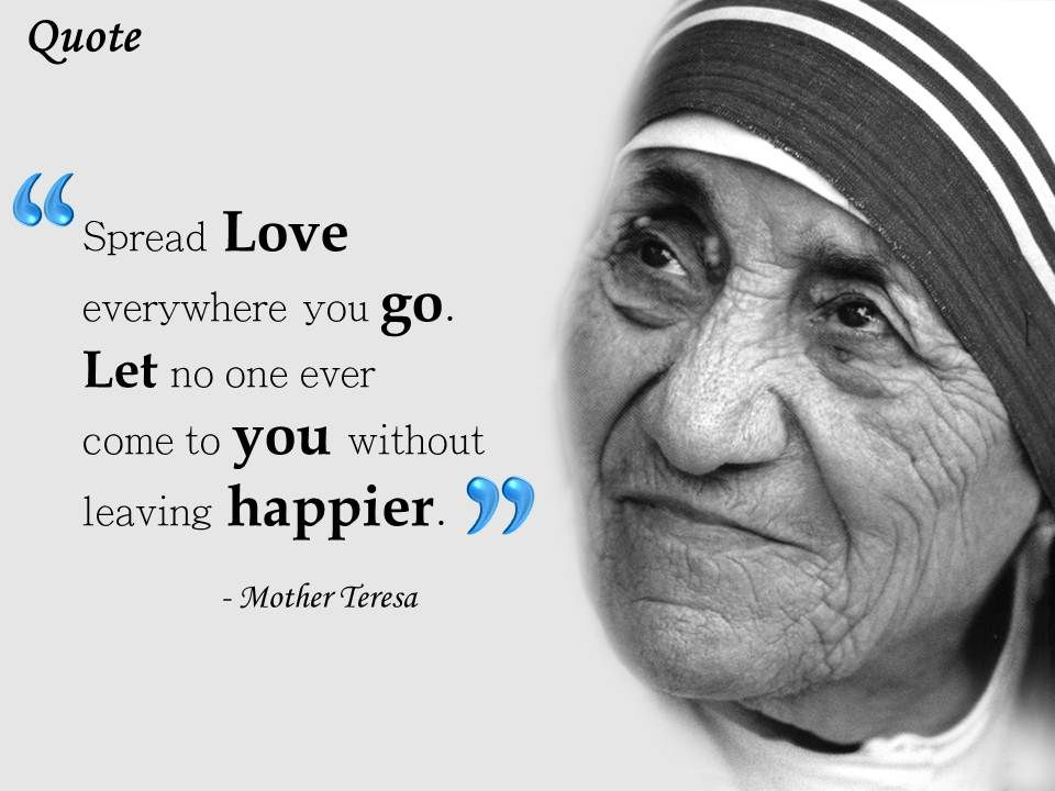 Mother Teresa Quotes Inspiration Mother Teresa Quote Presentation Slide 48 PowerPoint Shapes