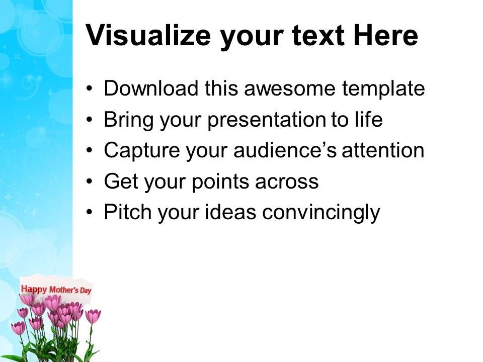 Mothers Day Message PowerPoint Templates PPT Themes And