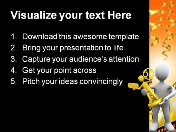 movie award winner success powerpoint templates and powerpoint, Modern powerpoint