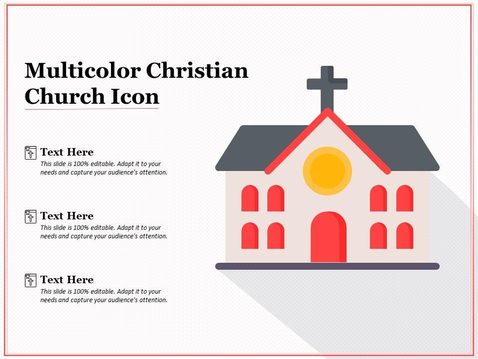 Multicolor Christian Church Icon