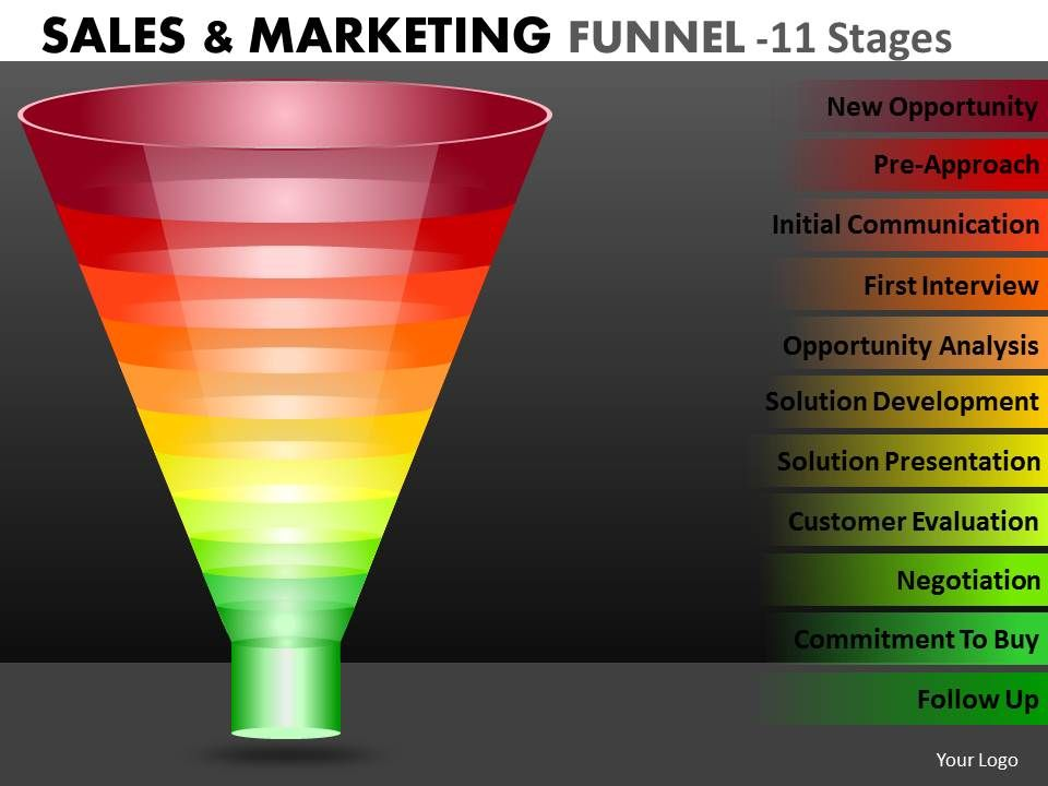 multicolored_marketing_funnel_diagram_with_11_stages_Slide01