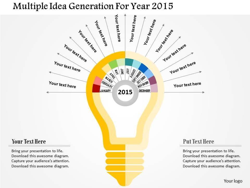 multiple_idea_generation_for_year_2015_flat_powerpoint_design_Slide01
