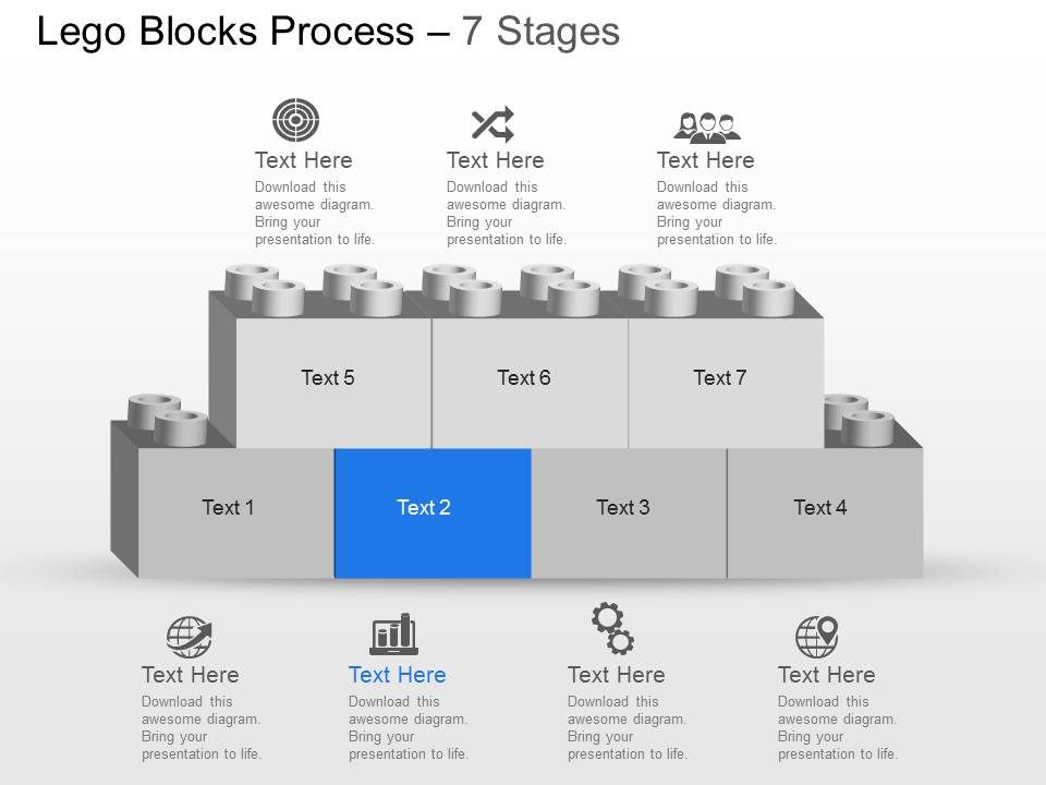 my_seven_staged_lego_block_process_flow_chart_powerpoint_template_slide_slide02 - Flowchart Blocks