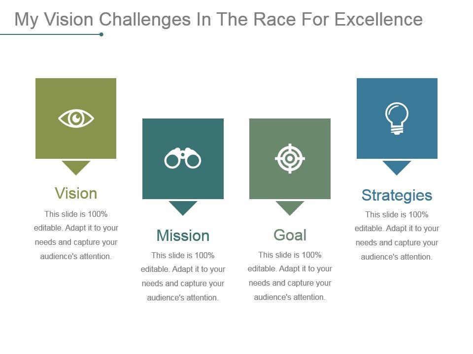 my vision challenges in the race for excellence powerpoint slide