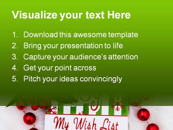 My Wish List Christmas PowerPoint Backgrounds And Templates 0111 – Blank Christmas Templates