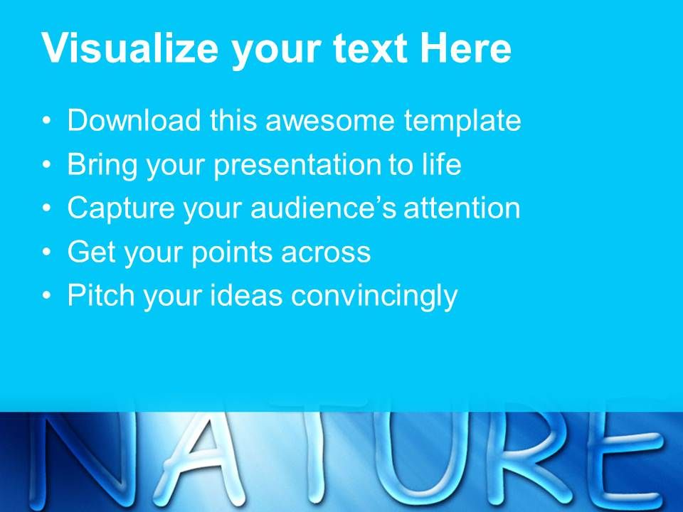 Nature Reserves Powerpoint Templates Blue Water Drops Beauty