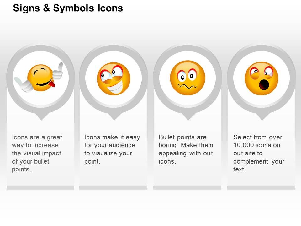Naughty Happiness Surprise Confuse Emoticons Ppt Icons Graphics Slide01