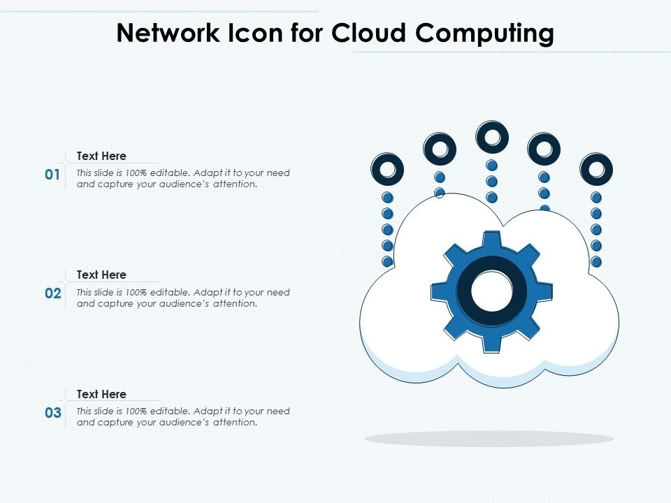 Network Icon For Cloud Computing