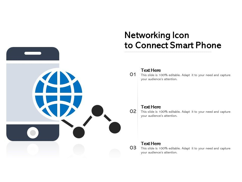 Networking Icon To Connect Smart Phone