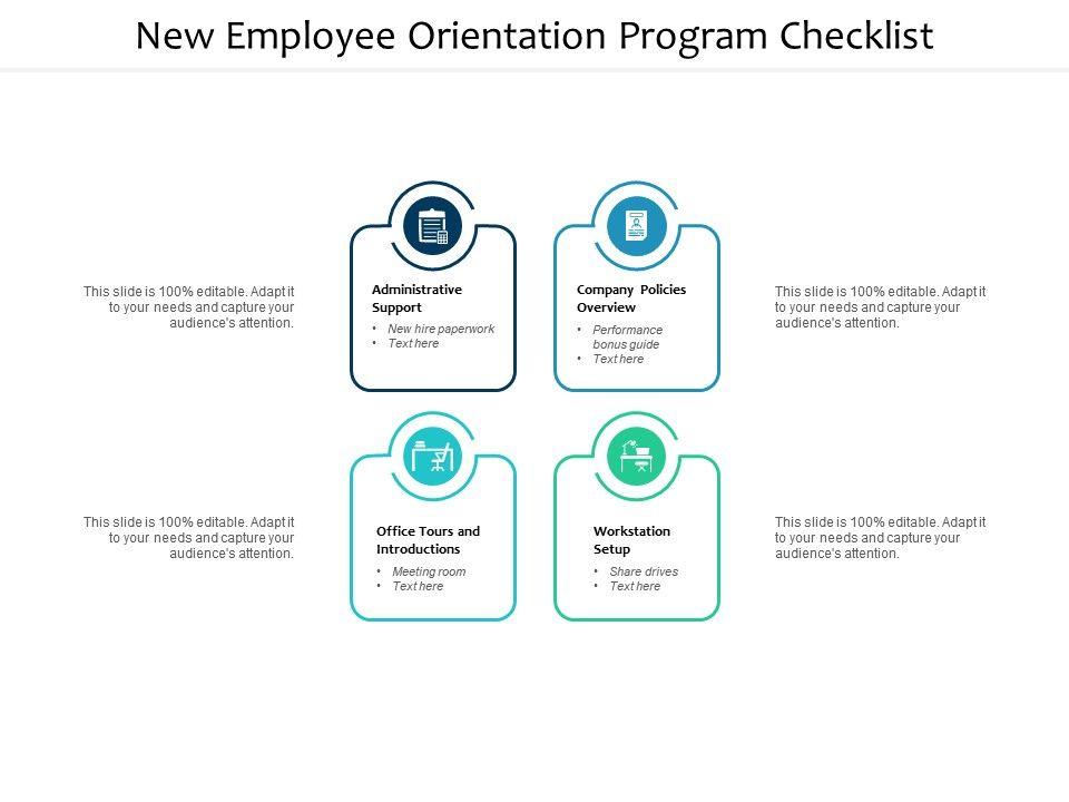 new employee orientation program checklist