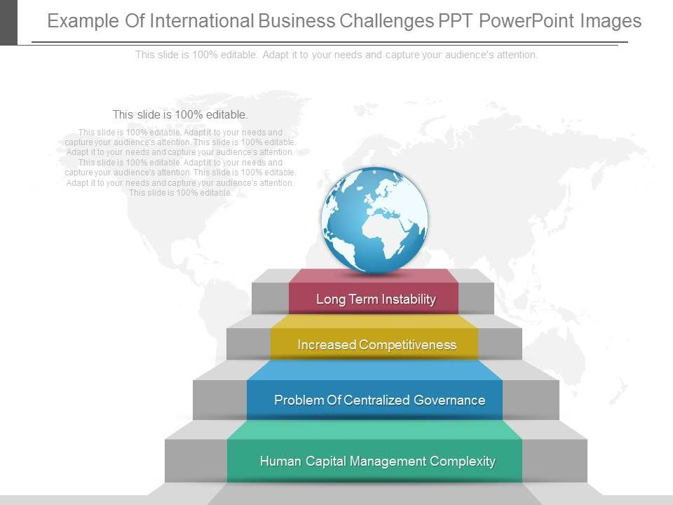 new example of international business challenges ppt powerpoint