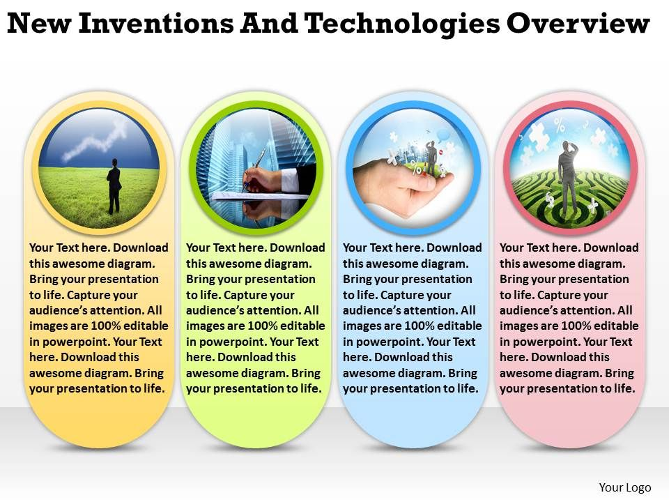 new inventions and technologies overview ppt powerpoint slides