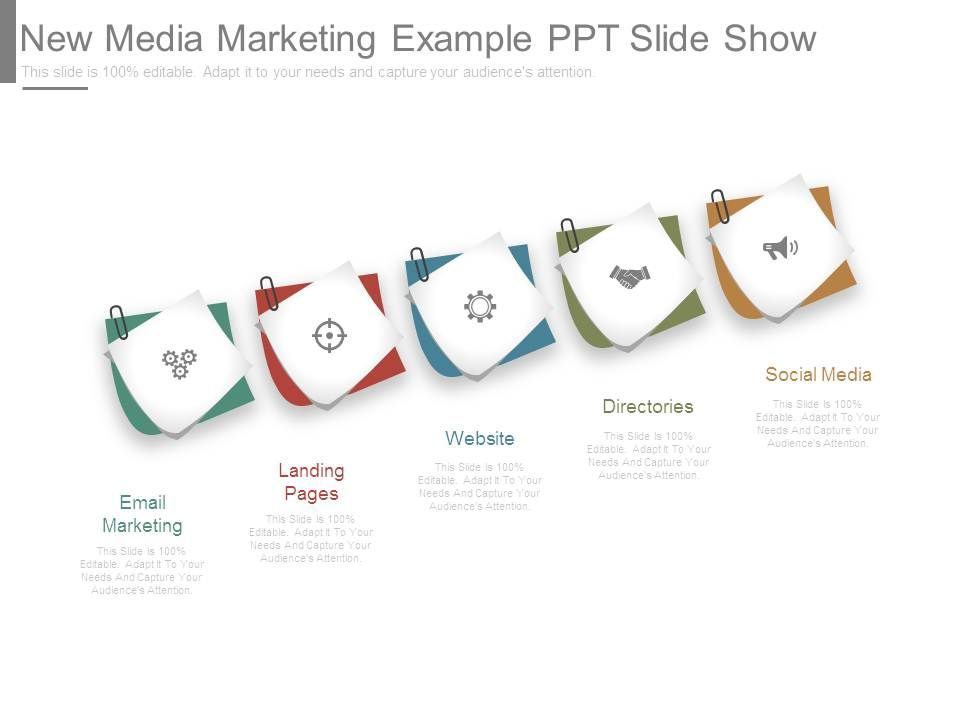 New Media Marketing Example Ppt Slide Show | PowerPoint