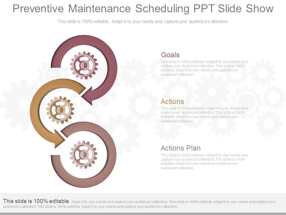 New Preventive Maintenance Scheduling Ppt Slide Show | Templates