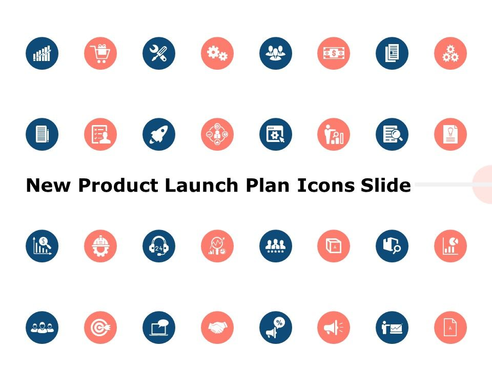 New Product Launch Plan Icons Slide Ppt Powerpoint Presentation Outline Diagrams