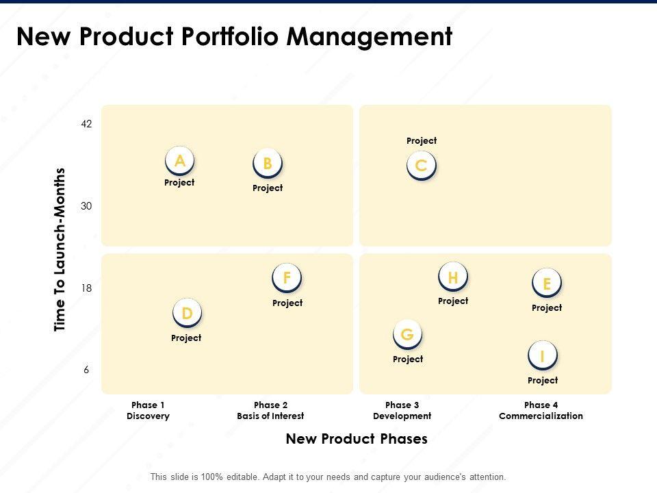 New Product Portfolio Management Time Launch Months Ppt Powerpoint Presentation Good