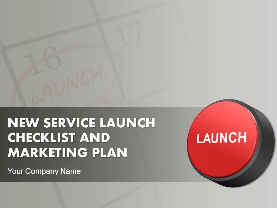 New Service Launch Checklist And Marketing Plan Powerpoint ...