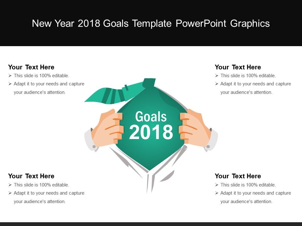 new year 2018 goals template powerpoint