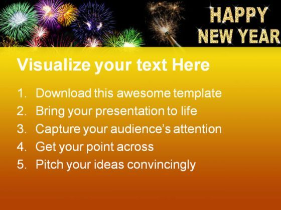 new year celebration festival powerpoint templates and powerpoint, Presentation templates