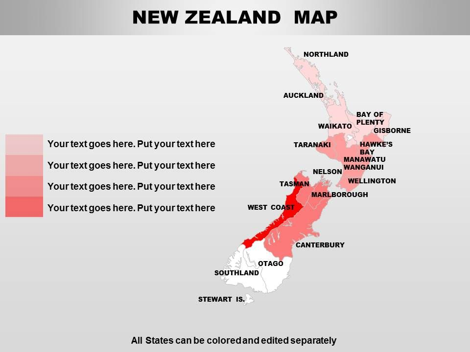 New Zealand Powerpoint Maps Presentation Powerpoint Images