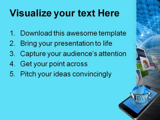 News On Mobile Communication Powerpoint Templates And Powerpoint